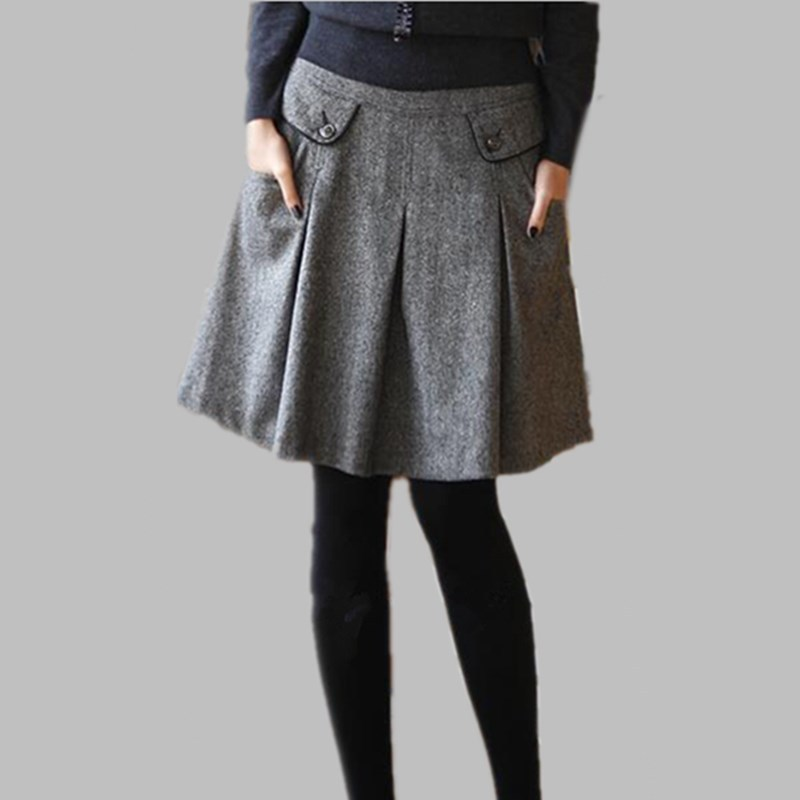 Wool Pleated Skirt Promotion-Shop for Promotional Wool Pleated ...