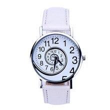 Personality Style Swirl Pattern Quartz Women Watch Brand Watches Fashion Casual Ladies Wrist Clock Relojes Mujer