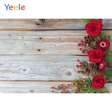 Yeele Wooden Board Planks Roses Fresh Flower Portrait Photography Backgrounds Customized Photographic Backdrops for Photo Studio yeele rose flower simple wooden board texture planks goods show photography backgrounds photographic backdrops for photo studio