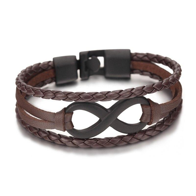 Großhandel New Fashion Schwarz plattiert Infinity Armband Echt - Modeschmuck - Foto 5