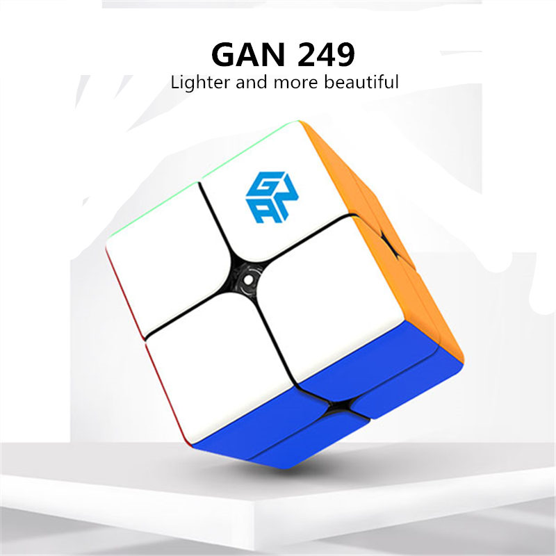 Image 3 - Gan249 2x2 magic speed cube stickerless GAN 249 V2M puzzle pocket Cube colorful gans toys for Children-in Magic Cubes from Toys & Hobbies