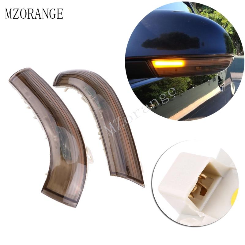 2pcs Rearview Mirror Light Dynamic Turn Signal LED Indicator Blinker Repeater For Volkswagen Jetta GOLF 5 MK5 Passat B5.5 B6