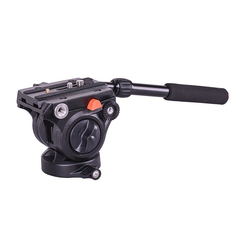 DH01 Professional video tripod head Panoramic Hydraulic Fluid monopod head +Quick Release Plate aluminum tripod fluid head with quick release sliding plate video fluid head hydraulic damping monopod for manfrotto 501pl dslr