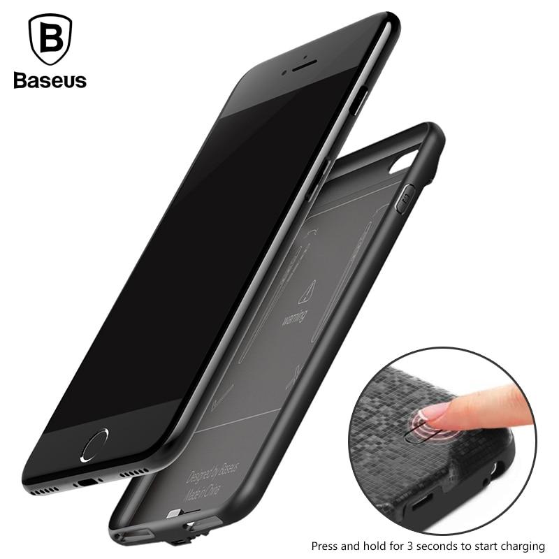 imágenes para De Baseus Caso Del Cargador de Batería Para el iphone 7 7 Plus 5000/7300 mAh PowerBank Reserva Externa Caso de Carga Para iPhone 7 Caso de la Energía