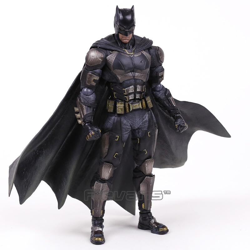 Genuine Original Play Arts Kai Justice League NO.1 Batman Tactical Suit ver. PVC Action Figure Collectible Model Toy 24.5cm shf figuarts superman in justice ver pvc action figure collectible model toy