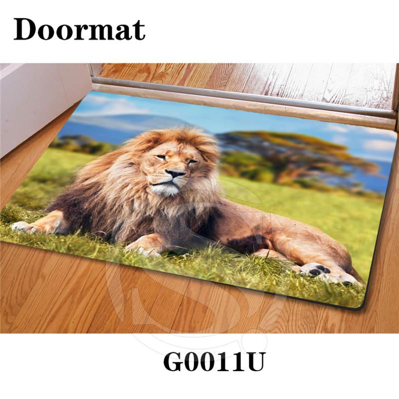 Custom lion DoorMat Art Pattern Printed Carpet Floor Hall Bedroom Cool Pad Fashion Rug Free Shipping SQ0611-L9