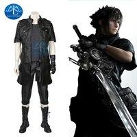 MANLUYUNXIAO Final Fantasy XV Noctis Lucis Caelum Cosplay Costume Adult Men Anime Game Costume Cosplay Black Jacket Full Set