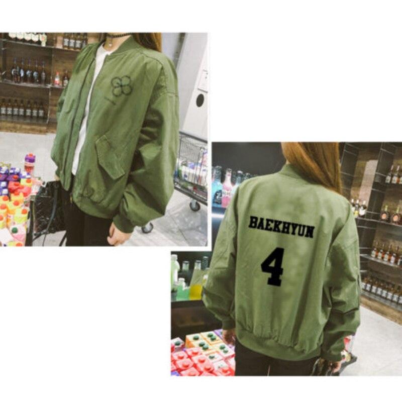 Kpop EXO Merchandise EXACT Baseball Uniform Coat Unisex Jacket Chanyeol Outwear ARMY
