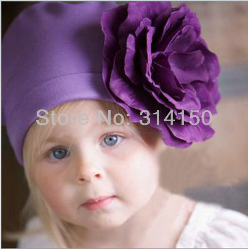 Baby Girl Flower Cap Girl Fashion Beanies Hats Children Cotton Soft Springy Caps Toddler Spring/Autumn Hat 1pcs