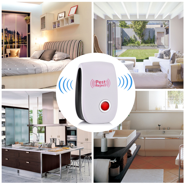 6pcs Electronic Cat Ultrasonic Anti Mosquito Insect Reject Repeller Rat Mouse Cockroach Pest Repellent