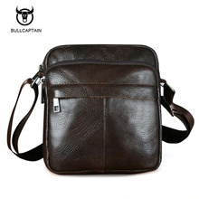 Bullcaptain Genuine Leather Men Shoulder Bags New Fashion Hot Male Handbag Small Crossbody Messenger Bag Travel Bolsa Satchels