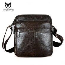 Bullcaptain натуральная кожа мужчины сумки на ремне новая мода горячие мужские сумки малый crossbody сумка путешествия bolsa сумки