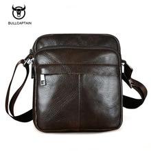 Bullcaptain Genuine Leather Men Shoulder Bags New Fashion Hot Male Handbag Small Crossbody Messenger Bag Travel Bolsa Satchels