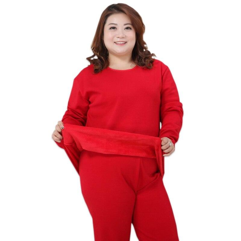 Frauen winter pyjamas Plus größe XXXXXL Verdicken warm halten red pyjamas sets frauen pijama verano mujer große größe 4xl 130 kg