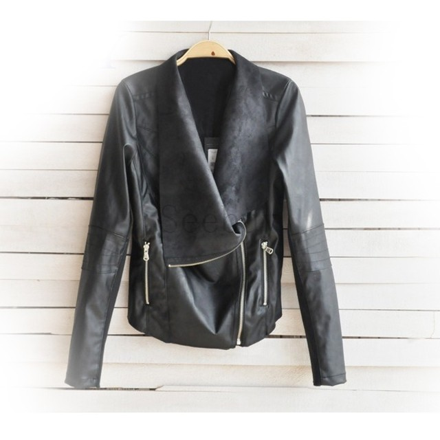 bdf9de19885a Girls Cool Stylish Zip Up Synthetic Leather Jacket Women Short Fit ...