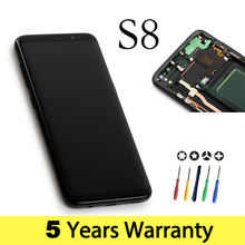 Wholesale Lcd For Samsung S8 Display Touch Screen Original G950F G950U G950Fd Display For Samsung S8 Lcd Touch Galaxy S8 Screen cheap Capacitive Screen 2560x1440 3 AMOLED LCD Touch Screen Digitizer refurbished 5 Years Black Gold Silver Blue Purple In 1-2 working days
