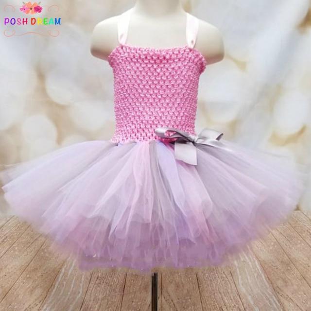 612fdc29edc7 POSH DREAM Pink and Grey Children Party Dresses Customizable Pastel  Graffiti Baby Girls Tutu Dress Easter Lavender Pink Dress