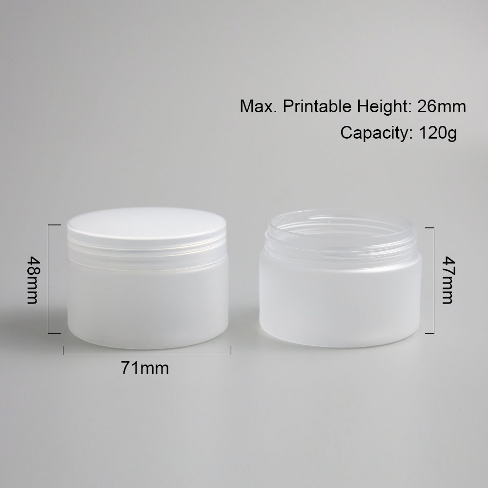 Купить с кэшбэком 30 x Clear Frost Clear Big 120ml 120g 4 oz Plastic Round Cream Jar Bottle Lotion Balm Makeup Cosmetic Sample Packaging Container