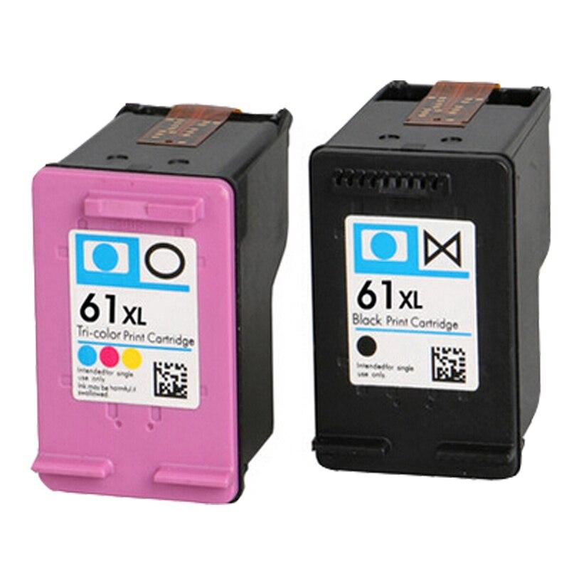 2 cartucho de tinta compatível para hp 61xl envy 4500 4502 5530 & deskjet 1050 2050 3050 3054 3000 1000 impressora