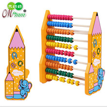 2016 wooden children early education mathematics calculation frame abacus toy math toys wholesale