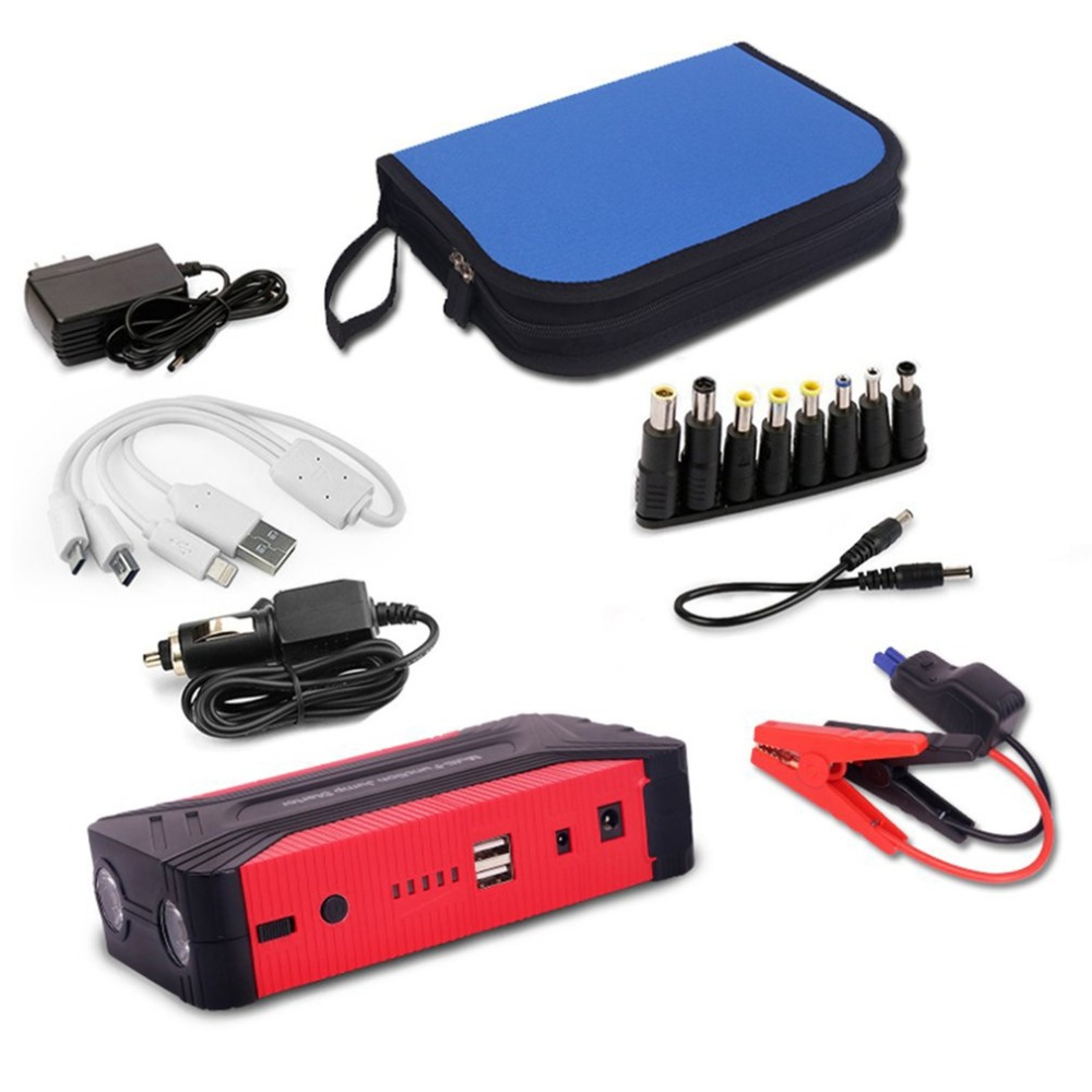 Professional 12V 82800mAh Compact Size Car Jump Starer 600A Car Charger For Car Battery Booster Starting Device Power Bank practical 89800mah 12v 4usb car battery charger starting car jump starter booster power bank tool kit for auto starting device