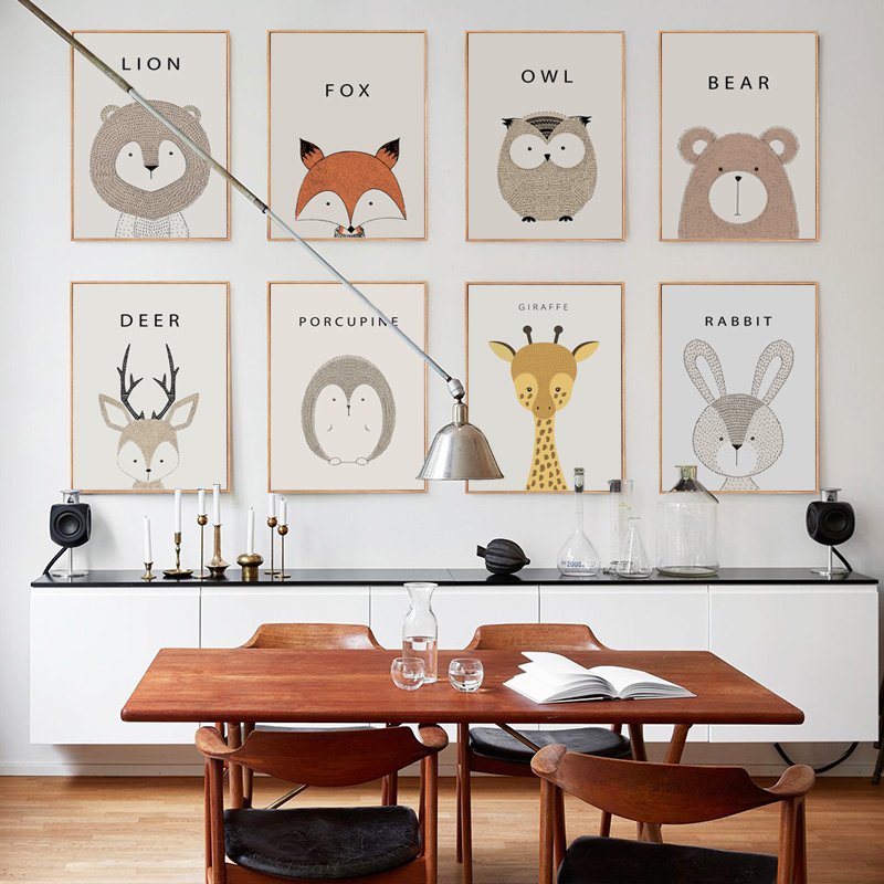 Moderno Minimalista Cute Cartoon Camera per bambini A4 Tela Pittura Art Print Poster Picture Parete Nordic Home Bedroom Decoration