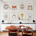Modern Minimalist Cute Cartoon Children's Room A4 Canvas Painting Art Print Poster Picture Wall Nordic Home Bedroom Decoration