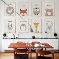 Moderno minimalista de dibujos animados lindo de la habitación de los niños A4 pintura de la lona impresión del arte Poster foto pared nórdicos casa decoración de dormitorio