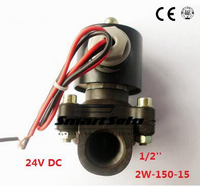 Free shipping 1/2 Inch 110V AC Plastic Air Gas Water Electric Solenoid Valve Normally Closed, 2W-150-15 18w copper plastic 1 2 electric actuator solenoid valve black golden ac 220v