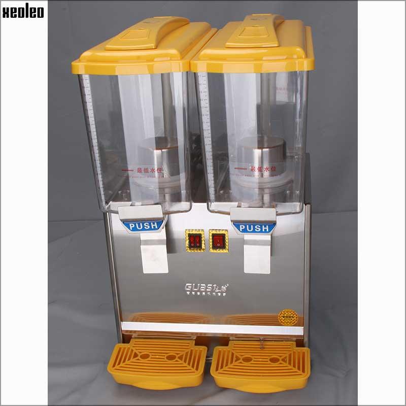 Xeoleo 17L*2 Cold&Hot Drink machine Cold Drink Dispenser Beverage Dispenser Juice Dispenser 220V Double tank Cold drink machine