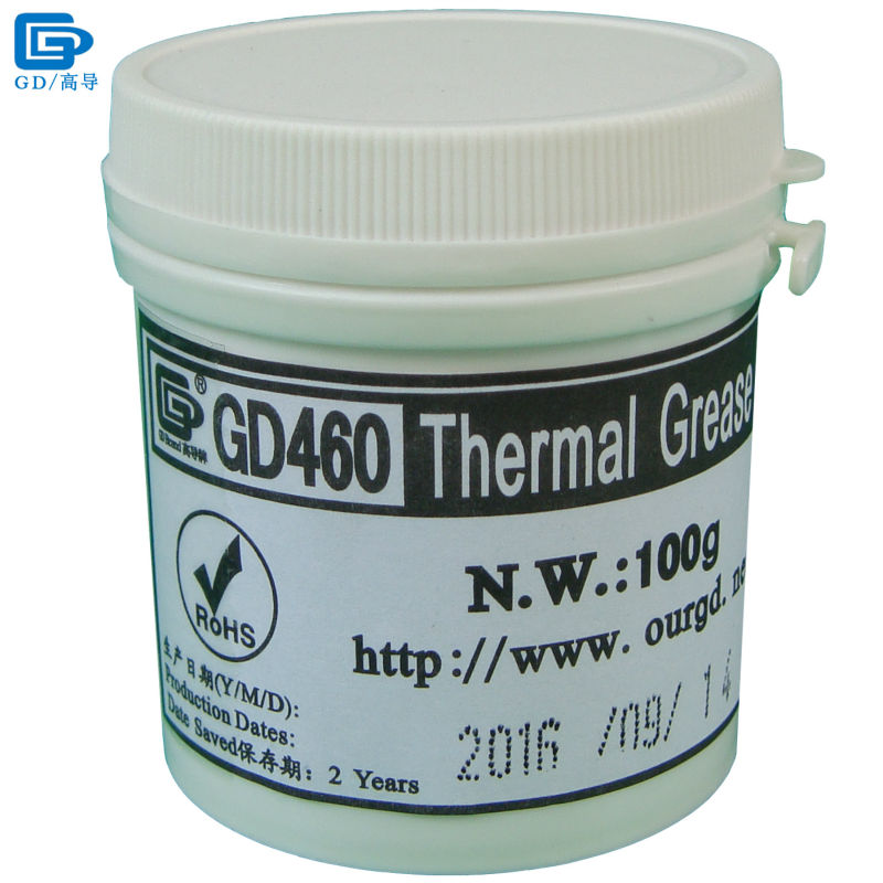GD460 Termico Conduttivo Pasta Grasso Al Silicone Gesso Dissipatore di Calore Compound Argento Peso Netto 100 grammi Per LED CPU Cooler CN100