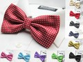 fashion dot bow tie boxed brand new adult bow tie 27 colors wedding party accessory 10pcs/lot