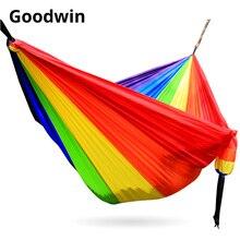 해먹 길이 300cm 너비 200cm 더블 사람 260cm * 140cm 단일 사용 LGBT 6 색 레인보우 그물 침대