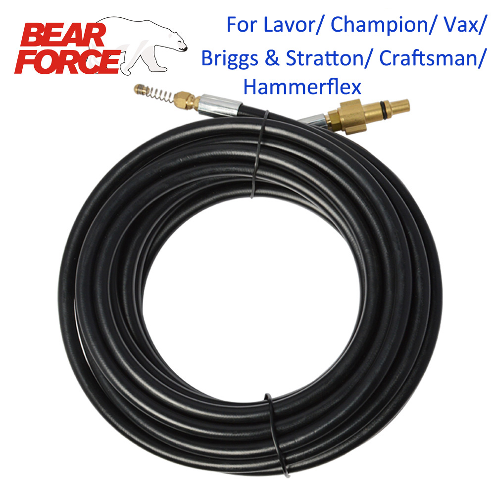 6m 10m 15m 20 Meters  Sewer Drain Water Cleaning Hose For Lavor/ Craftsman/ Briggs/ Champion/ Hammer/ Vax High Pressure Washers