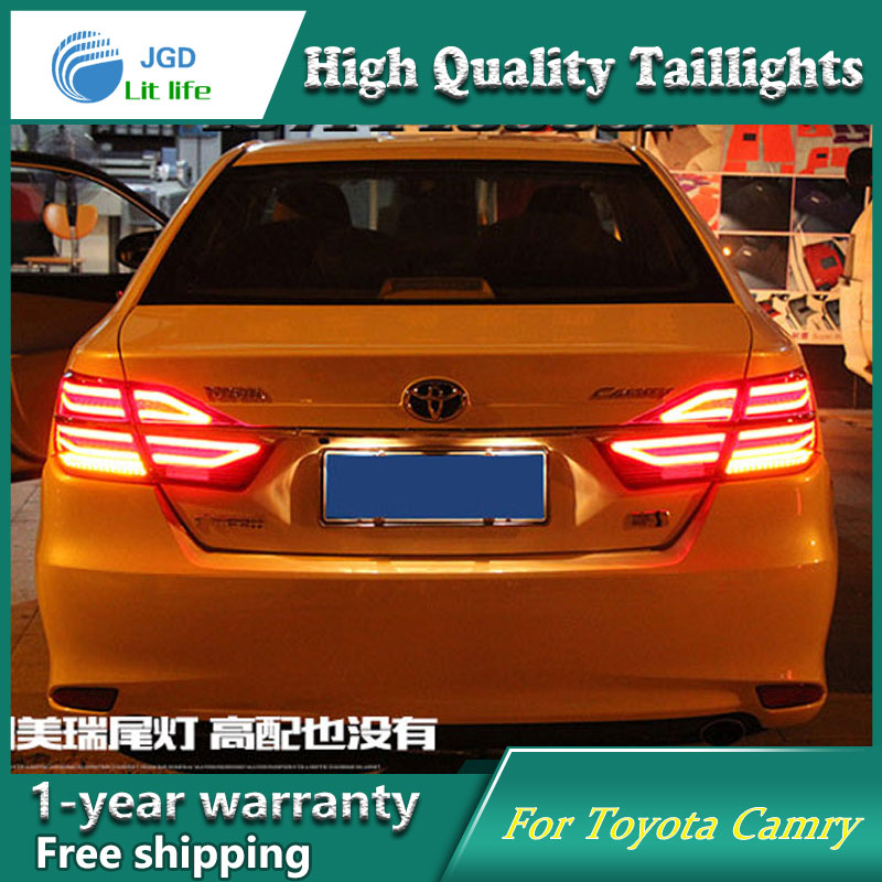 Car Styling Tail Lamp case for Toyota Camry taillights 2015 Lights LED Tail Light Rear Lamp LED DRL+Brake+Park+Signal