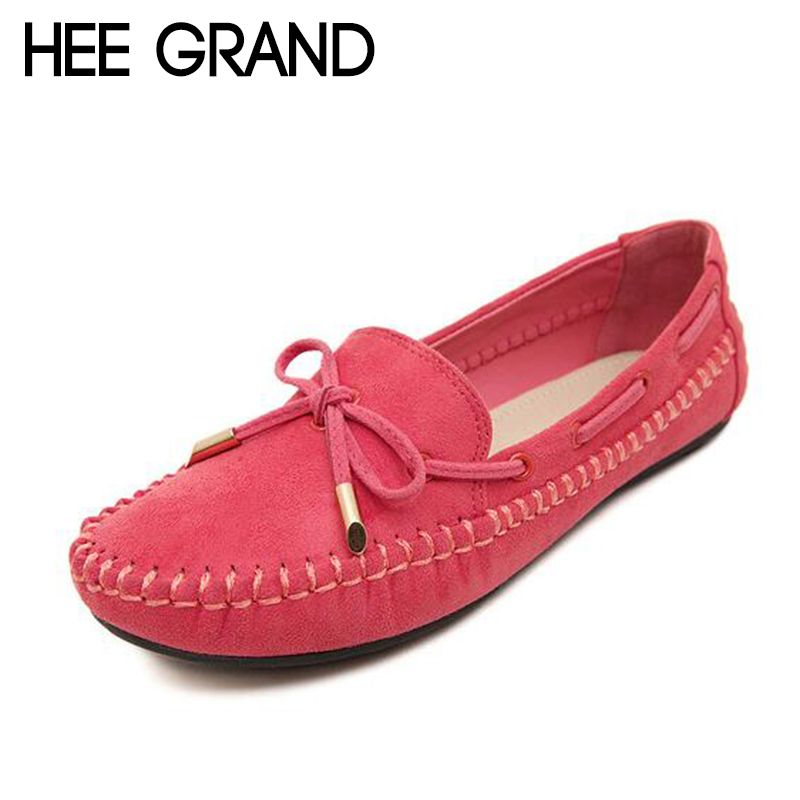 HEE GRAND Flock Loafers Soft Casual Shoes Bowknot Woman Platform Mother Slip On Flats Comfortable Women Shoes XWD6433 hee grand camouflage creepers 2017 lace up platform shoes woman wedges loafers slip on flats casual fahsion woman shoes xwd6038