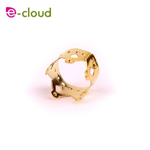 Фото 100 желтое металлическое кольцо для волос в форме короны бусины