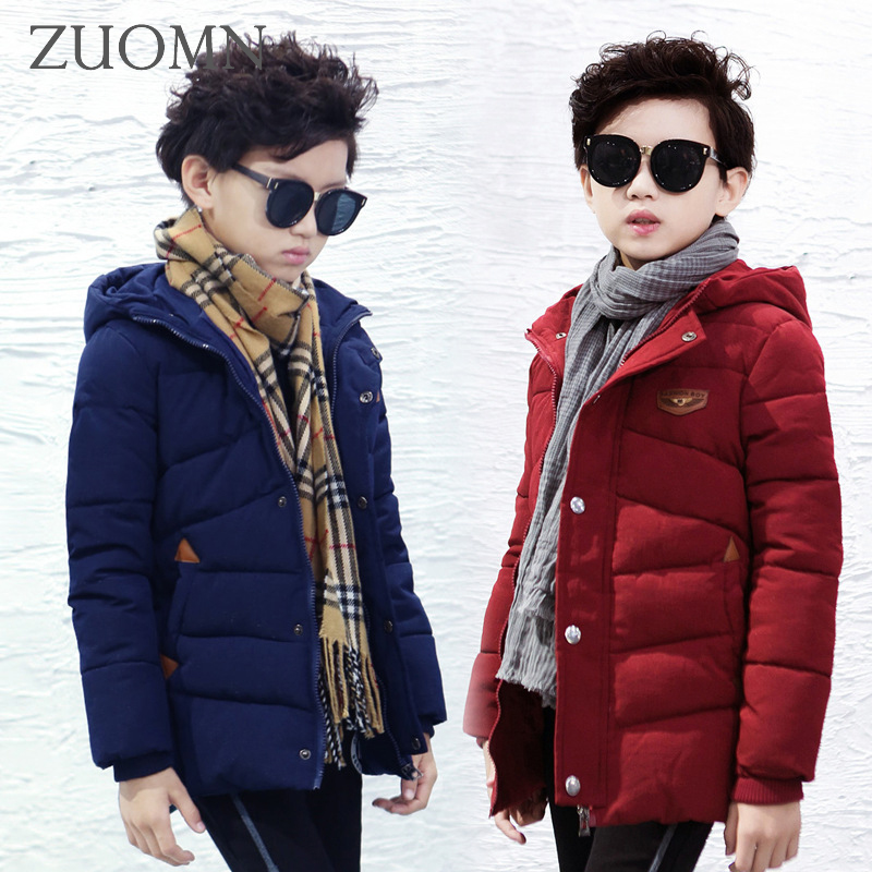 New Coat Boy Winter Children Jackets Boys Down Coat Warm Outerwear Kids Clothes Windproof Thick Hooded Fashion Clothing GH237 boys lamb wool jacket coats winter boy coat children fashion outerwear kids clothes boutique clothing