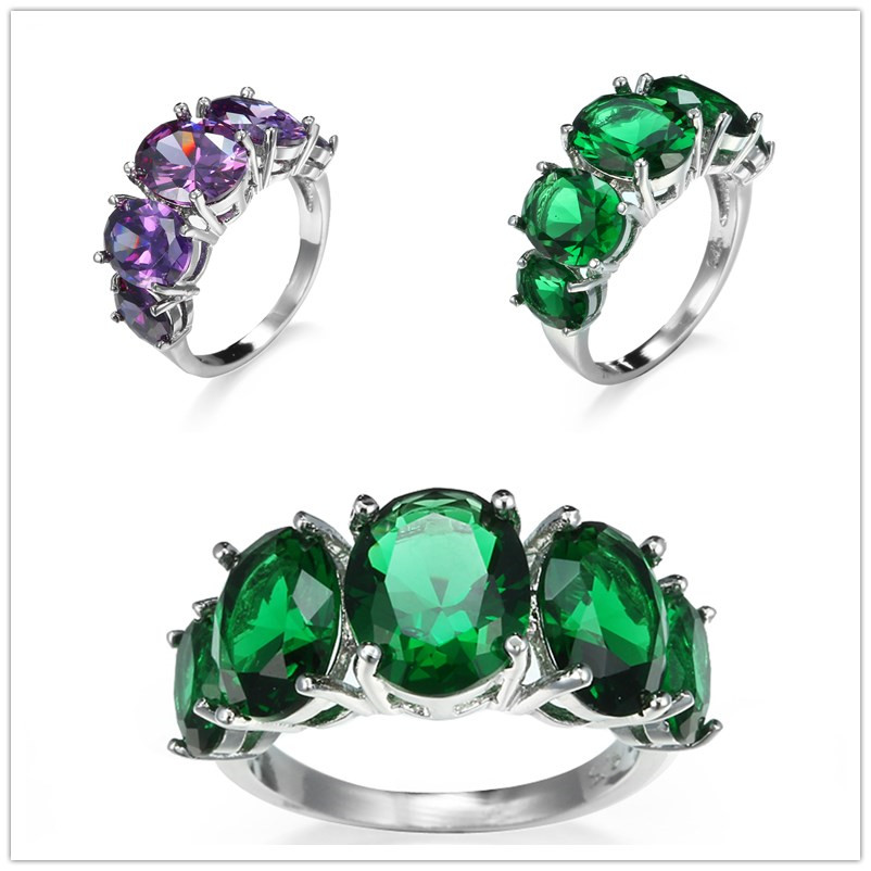 b7225091a22c2 TANGKA top trendy copper ring Cubic Zirconia cocktail party Costume jewelry  ring for women sale silver color prong setting W3308-in Rings from Jewelry  ...