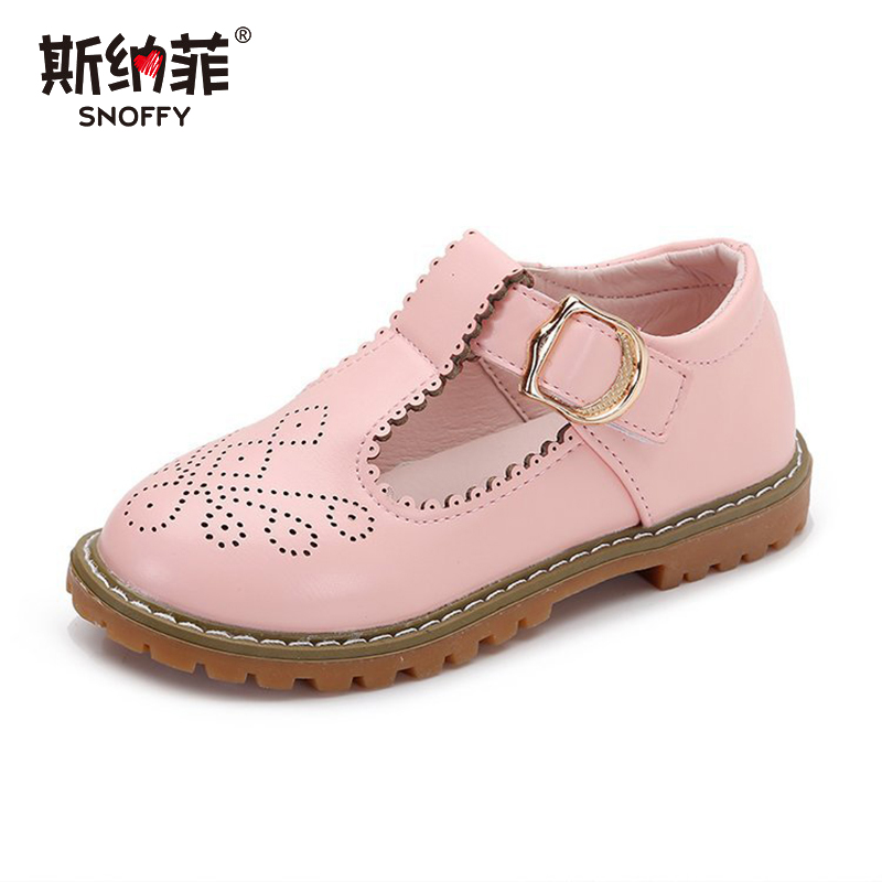 Girl Dress Shoes Autumn New Fashion Princess children Girl Party Solid Pretty school shoes Round Leather Kids Shoes