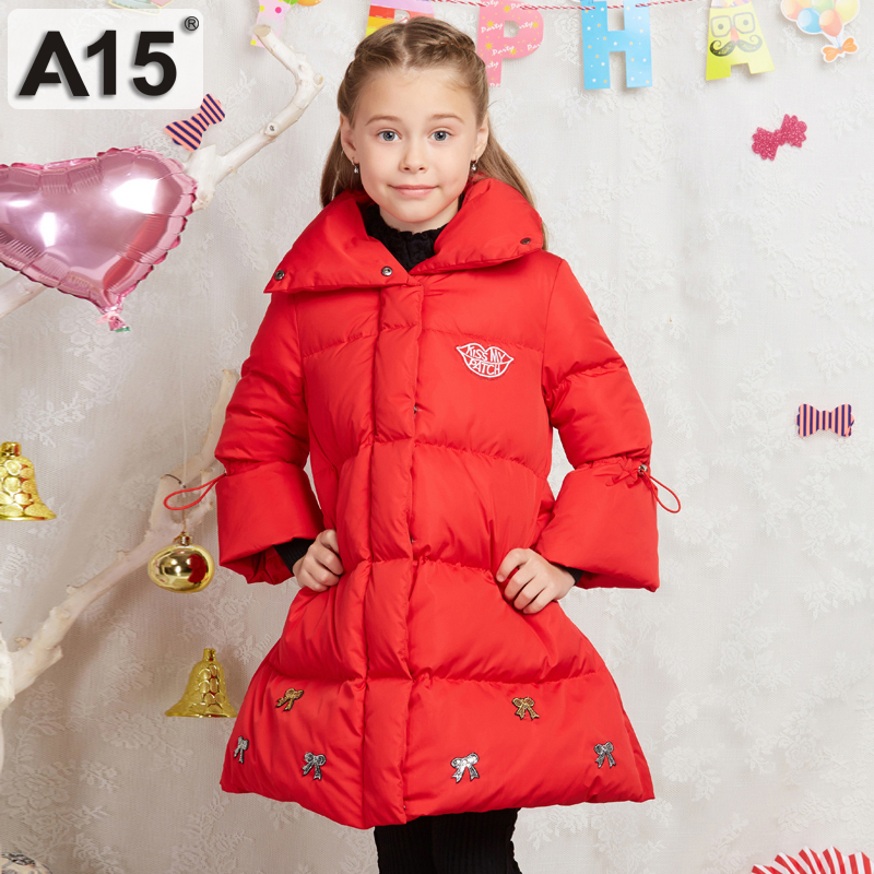 A15 Brand Girls Clothes Thick Duck Down Jacket For Teen Girl 2017 Winter Jacket Girl Coat Children Long Warm Winter Coat 12 14 Y In Down Parkas From