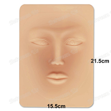 3D Tattoo Practice Skin Semi-Permanen Human Face Makeup Tattoo Practice Skin Professional Silicone Blank Tattoo Practice Sheet