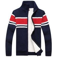 Striped Color New Men 2018 Thick Casual Sweater Men Cardigan Warm Autumn Design Clothes Plus size M-3XL