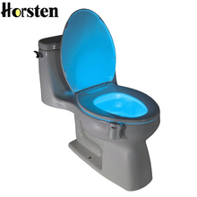 8 Colors LED Toilet Night Light Intelligent Motion Activated Toilet Nightlight Sensitive 3A Battery operated Toilet