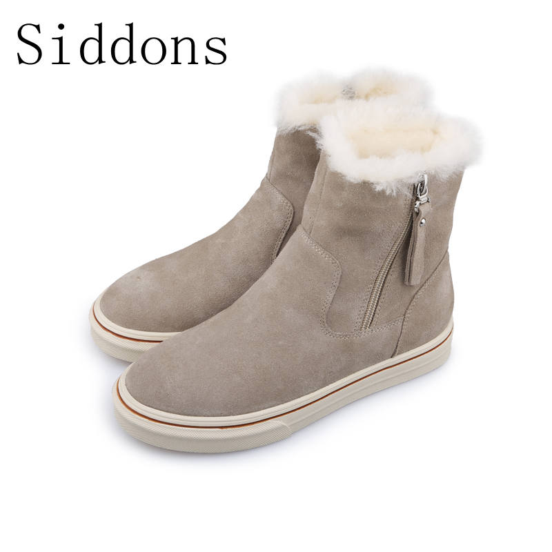 Siddons 2018 new arrival winter boots Women Snow Boots Women suede Ankle Boots botas mujer Ladies boots Shoes size: 35-39 pinsen winter boots women new arrival fashion brand female snow boots classic mujer botas waterproof boots for women size 35 41