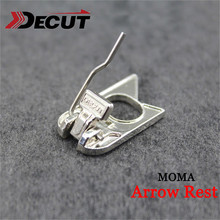 1pc Archery Recurve Bow Arrow Rest Stainless Steel Material Paste Type MOMA For Hunting Shooting Accessories