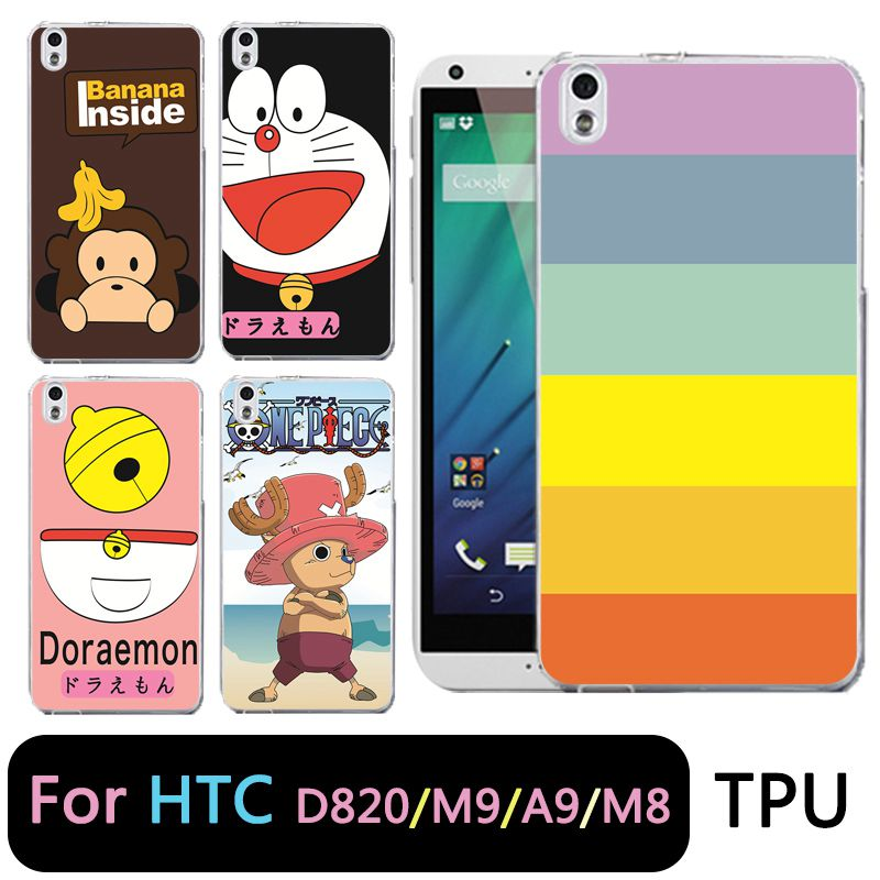 QMSWEI TPU Clear Phone Case For HTC M8 One Piece Doraemon Monkey Silicone Protective Soft cover Free shipping For HTC D820 M9 A9