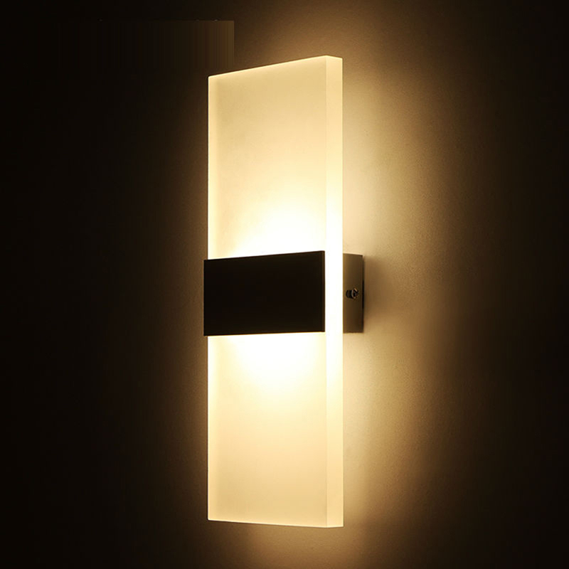 The Latest LED Wall Lamp Aluminum Fancy Foggy Acrylic Under The Cube Indoor Outdoor Wall Lamp Lighting DecorationDTT88