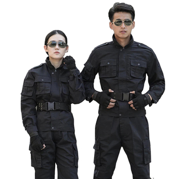 Black Hunting Clothes Military Uniforms Mens Hunting Clothing Tactical Combat Shirt +Cargo Pants Outdoor Army Ghillie Suit Men фото