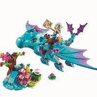 214pcs Set 10500 The Water Dragon Adventure Building Bricks Blocks DIY Educational Toys Compatible Lepin Elves